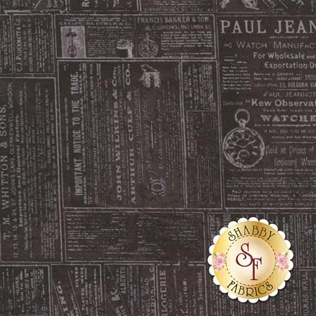 Time Traveler's Memoirs Y2079-3 by Clothworks Fabrics- REM