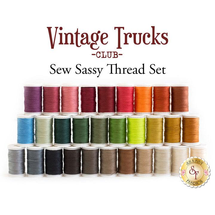 Vintage Trucks Club - 30pc Sew Sassy Thread Set
