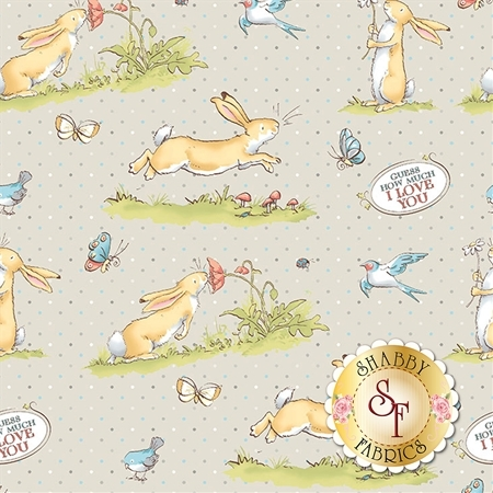 Guess How Much I Love You Flannel Y2321-61 by Clothworks Fabrics