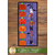 """The October """"Halloween"""" A Year In Words Wall Hanging on a wood textured wall"""