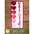"""The Februrary """"Valentine"""" A Year In Words Wall Hanging on a wood textured wall"""