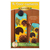 Pattern for A-door-naments August with three yellow sunflowers on teal fabric.