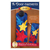 Pattern for A-door-naments July with blue, yellow, & red shooting stars on deep blue fabric.
