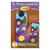 Pattern for A-door-naments May with three purple pansies on blue.