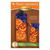 Pattern for A-door-naments October with three smiling jack-o-lanterns on violet fabric.