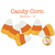 Medium candy corn applique shapes measure 4 inches from top to bottom.