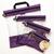 A set four clear organization bags in Purple | Shabby Fabrics