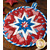 A close up of the center star design on the Folded Star Hot Pad - America the Beautiful