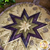 Close up details of the center piecing on the Folded Star Hot Pads