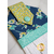 Button details on the Flour Garden Hanging Towel - Navy | Shabby Fabrics