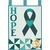 Teal-colored ribbon with a central heart, the word HOPE from top to bottom on the left-hand side.