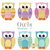 Medium owl applique shapes measure 4 inches from head to toe.