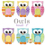 Small owl applique shapes measure 3 inches from head to toe.