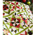 Details of the Poinsettia & Pine Patchwork Quilt while draped over a chair | Shabby Fabrics