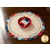 Scalloped Table Topper Kit - The Pledge of Allegiance displayed with a bowl of thread