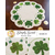 The finished Simply Sweet Mats for March featuring shamrocks all around the scalloped borders