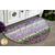 The beautiful Slice Rug made with Amethyst Magic fabrics displayed on the floor | Shabby Fabrics