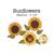 Medium sunflower applique shapes measure 4 ½ inches in diameter.