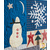 Quilt block with a snowman, star, and snowflake | Shabby Fabrics