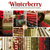 A collage of fabrics in the Winterberry collection | Shabby Fabrics