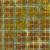 Turquoise checkered plaid design on mottled green/brown batik | Shabby Fabrics