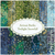A collage of the 14 fabrics included in the Artisan Batiks: Twilight Snowfall FQ Set