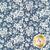 White roses all over blue | Shabby Fabrics