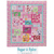 sugar and spice girl's themed quilt with pink florals